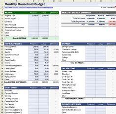 Free Household Budget Worksheet for Excel