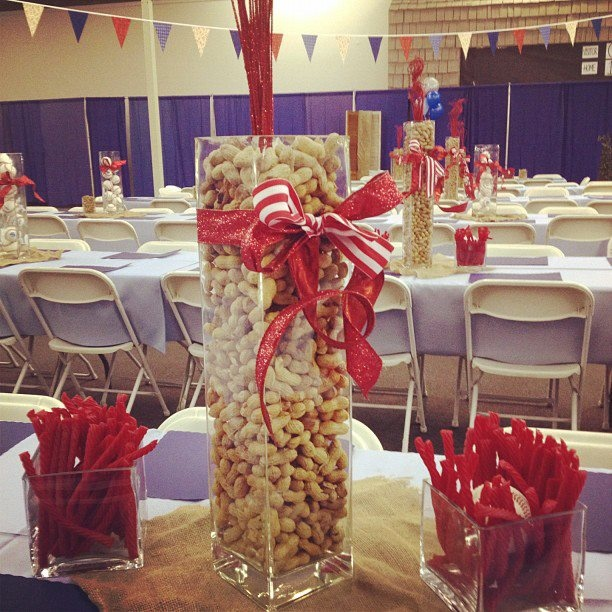 Baseball theme dessert table wedding sept