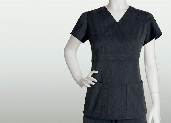 {XL} Women's Grey's Anatomy Medical Scrub Top Style 2153 Color Black Heather #GreysAnatomy