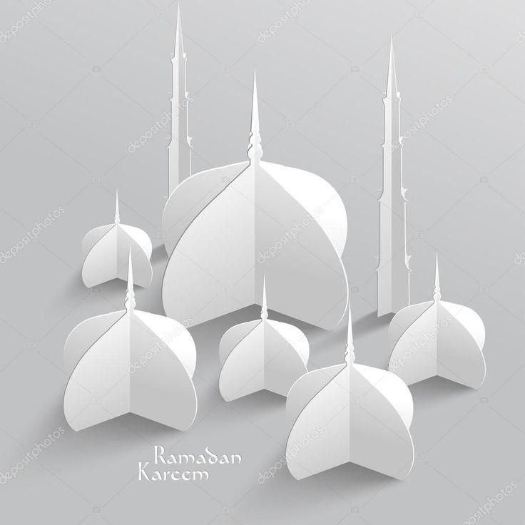 ベクトル 3 d モスク紙の彫刻