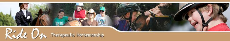 Ride On teaches horseback riding to children and adults with physical and mental disabilities. - Pinned by @PediaStaff – Please visit http://ht.ly/63sNt for all (hundreds of) our pediatric therapy pins