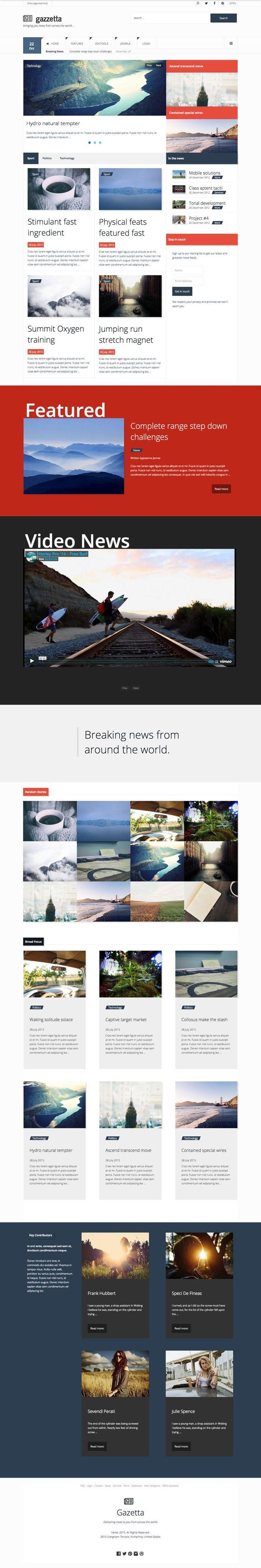 Gazetta Joomla Magazine Template - www.templates4all.com