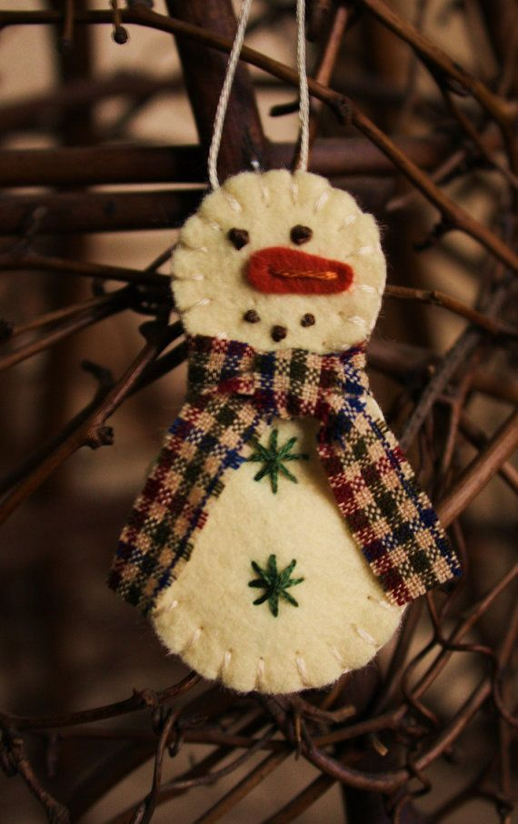 tiny snowman ornament