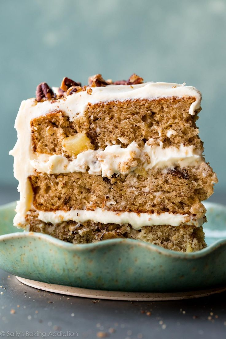 Exceptionally moist and flavorful hummingbird cake with 3 delicious layers and silky cream cheese frosting!