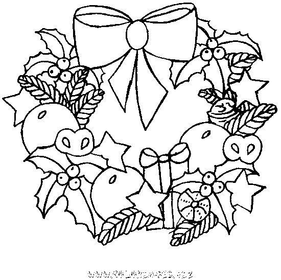 Coloriage Couronne De Noel.Coloriage Couronne De Noel Pour Enfant Et Dessin Gratuit à
