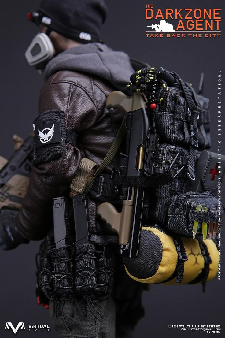 toyhaven: VTS Toys 1/6th scale The Darkzone Agent 12-inch figure is based on Tom…