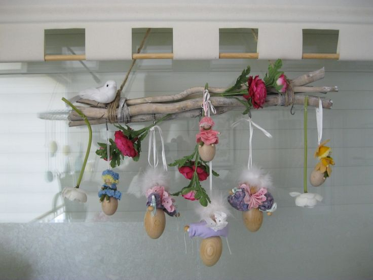 Paas-lentedecoratie ( easter decoration,, made by me ( AnneK)