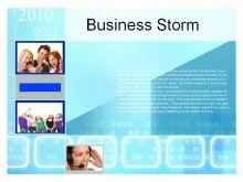 科技放映背景商务PPT模板下载