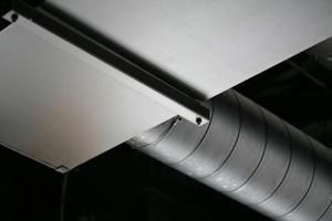 Leaks are common at joints in the ducts.