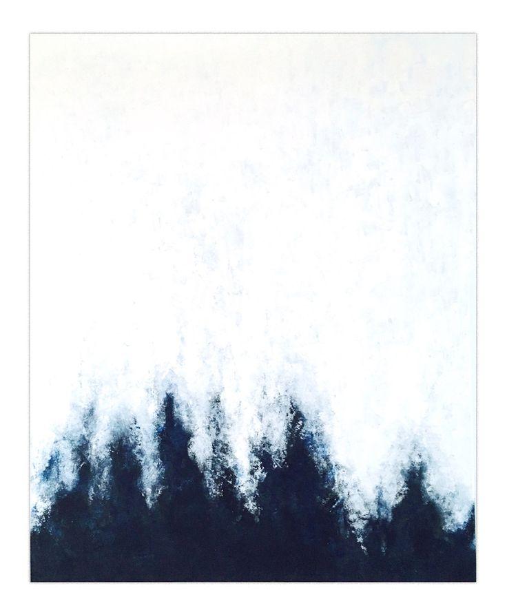 """Blue rising 2"", 80x100 cm by Stellan Kristiansson"