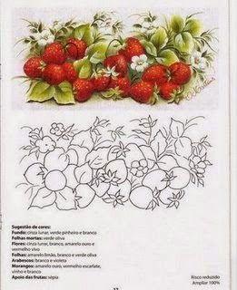 Olá Pessoal! Trago a vocês nessa linda segunda-feira esses lindos riscos de frutas para pintura em tecido. Espero que gostem e aproveitem!