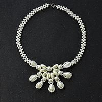 Pandahall Original DIY Project - How to Make an Elegant White Pearl Bead Flower Necklace