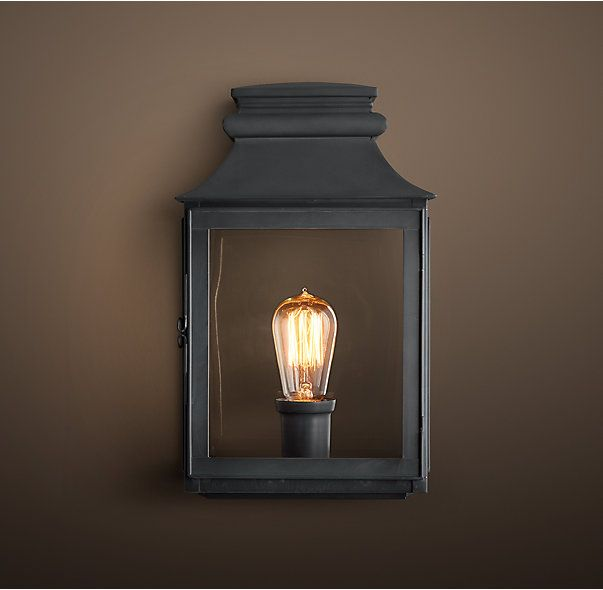 Vintage French Gas Lantern Sconce: