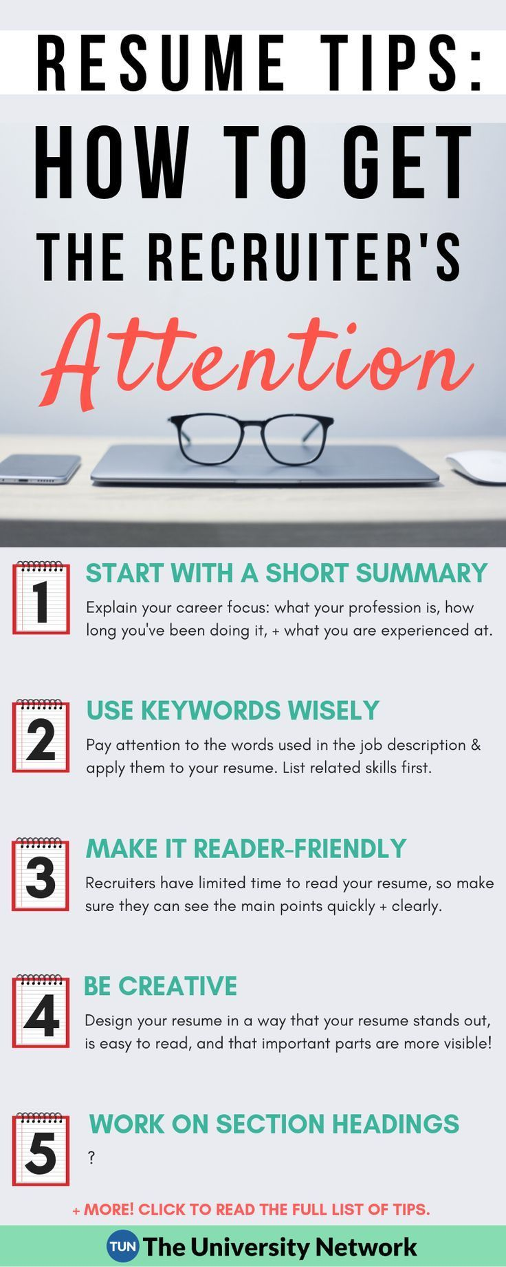 Resume Tips How to Grab the Recruiter's Attention