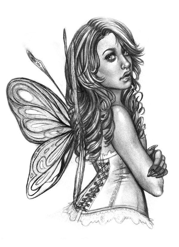 simple fairy sketch | Fairy sketch by Nazzirithe on ...