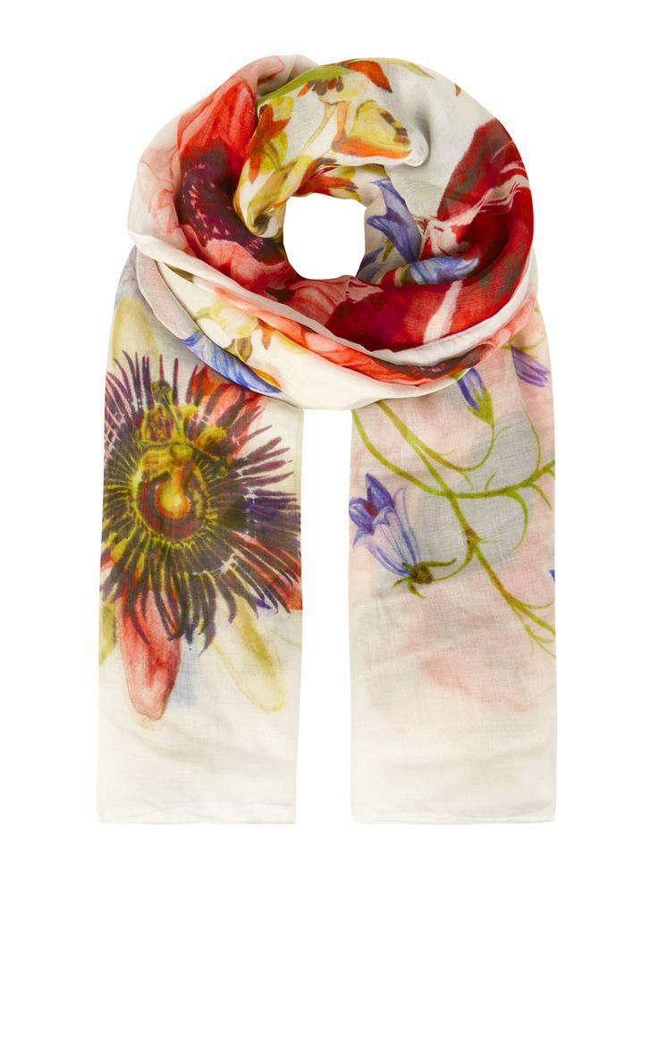 Karen Millen, BOTANICAL PRINT SCARF Multicolour