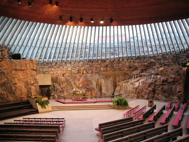 Temppeliaukio Kirkko, The Underground Rock Church, Helsinki, Finland