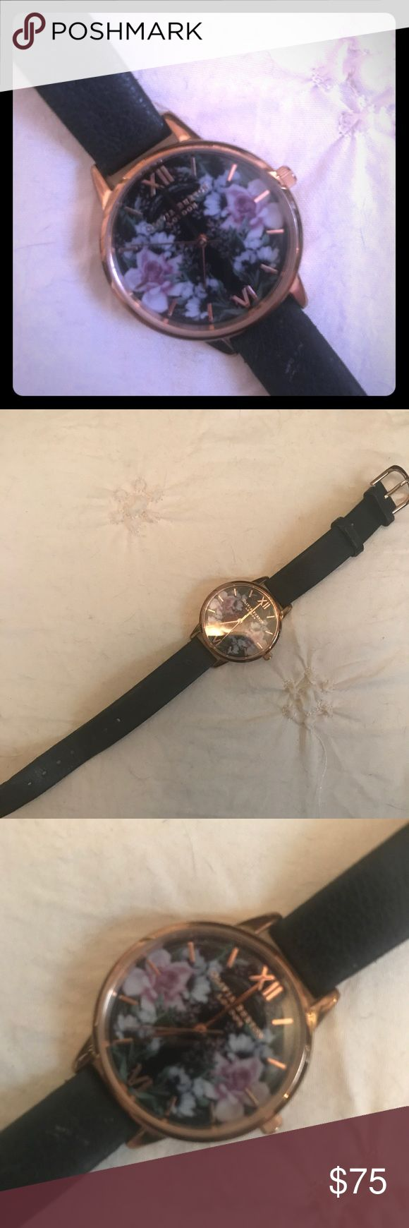 Olivia Burton Watch Olivia Burton Watch, small dial. Normal wear on the leather band. OLIVIA BURTON Accessories Watches