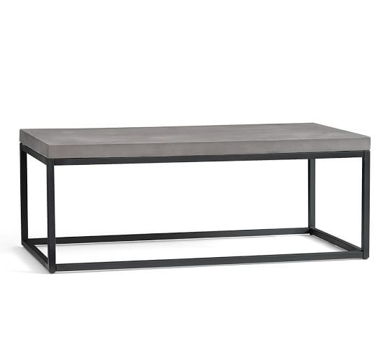 Sloan Concrete & Metal Coffee Table | Pottery Barn - 25+ Best Ideas About Metal Coffee Tables On Pinterest Coffee