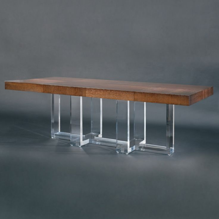 Allan KnightAcrylic | Dining And Game Tables | Ribbon Cross Dining Table.  Acrylic ...
