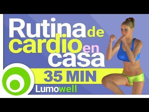 Rutina de Cardio para Quemar Grasa - Ejercicios Aerobicos para Adelgazar en Casa - YouTube #entradaencaloraerobica