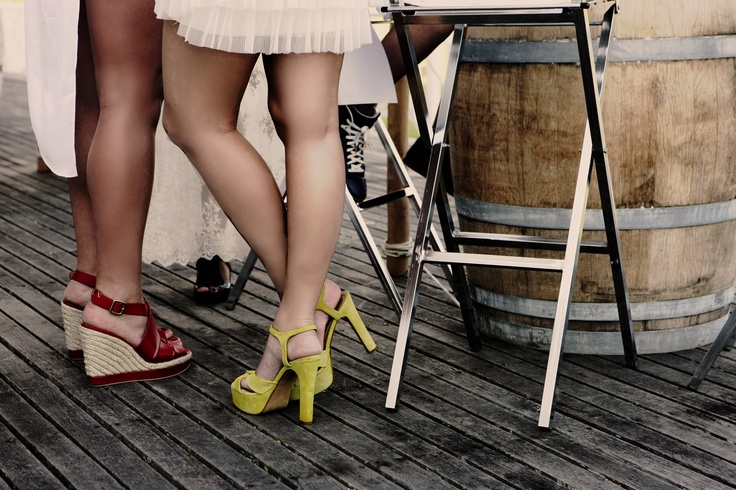 Love wine barrels - Lime green shoes  Styling & Event planning www.eventsandtents.co.za  Photographer  www.joannedunn.it