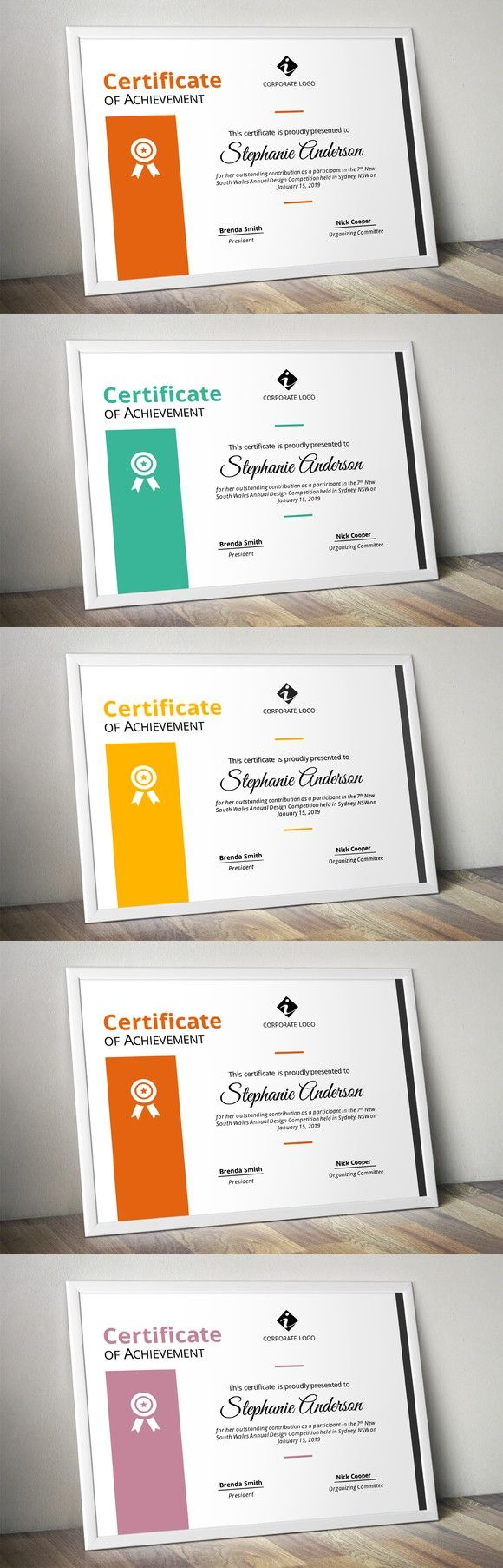 Corporate powerpoint certificate. Stationery Templates. $6.00