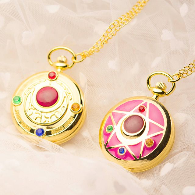 Japanese sailor moon necklace pocket watch