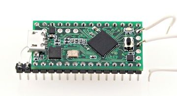 Teensy 3.0, an affordable 32 bit ARM Cortex-M4 board, for development in Arduino or C/C++.