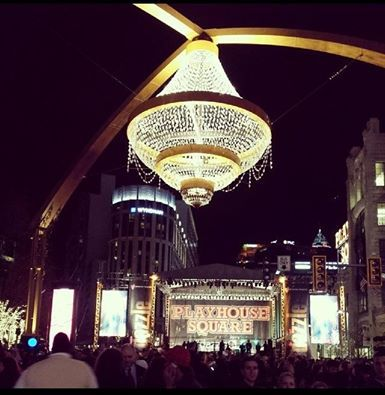 Cleveland - Playhouse Square, new chandelier