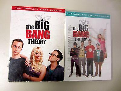 THE BIG BANG THEORY Seasons 1 2 DVD Video Jim Parsons Kaley Cuoco Warner Bros.