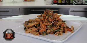 Επ. 28, πένες με ψητά λαχανικά και σάλτσα πιπεριάς