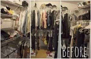 The 40 Hanger Closet--before the purge