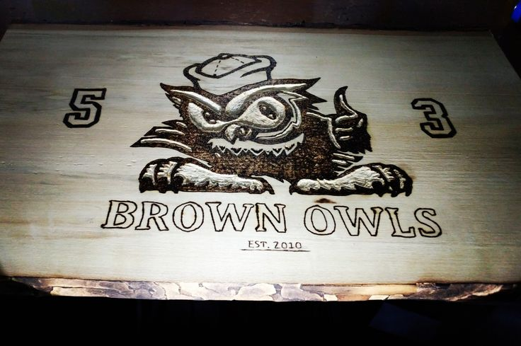Brown owls logo #woodburning #pyrography #Brownowls