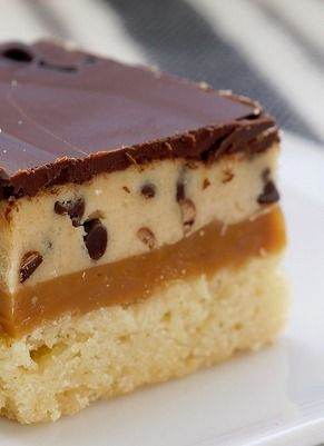 Cookie Dough Billionaire Bars Recipe