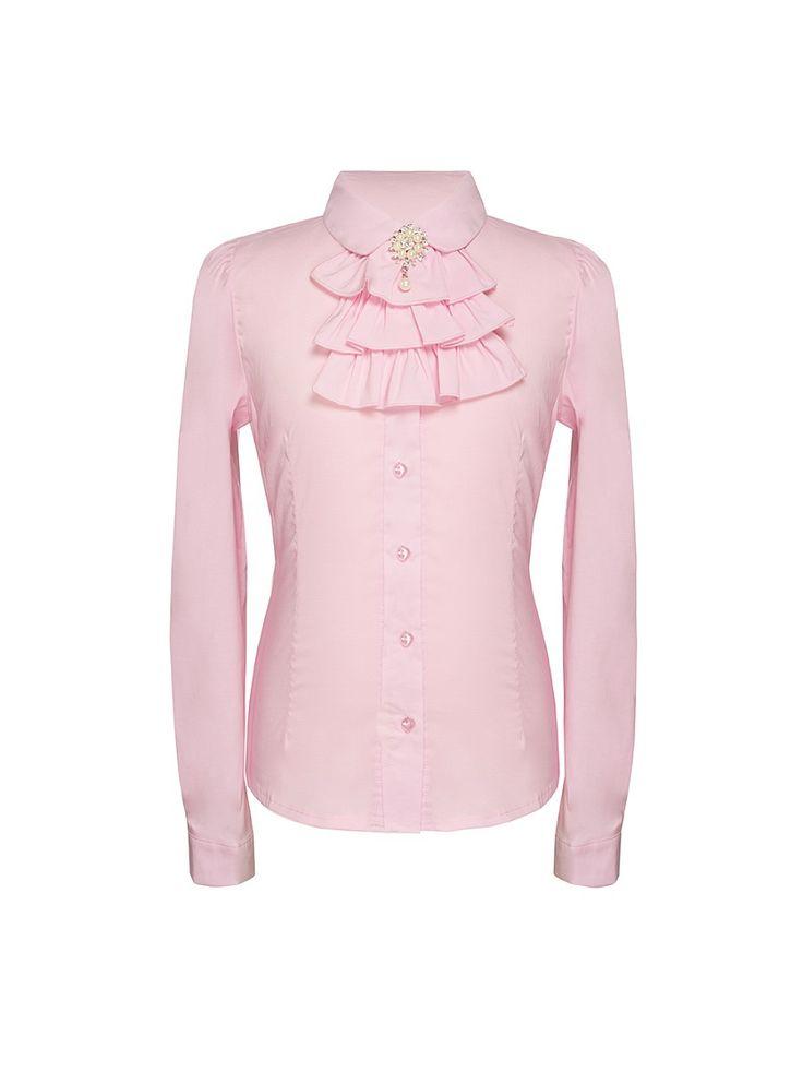 Блузка для девочки с длинным рукавом 7 одежек. Цвет розовый.