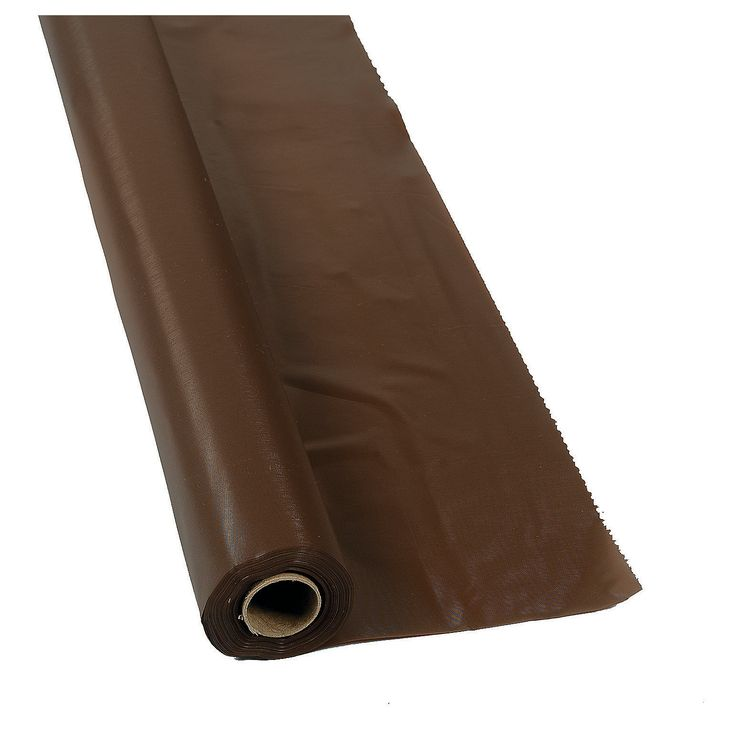 Chocolate Brown Tablecloth Roll - OrientalTrading.com  *buffet tables & guest book tables*