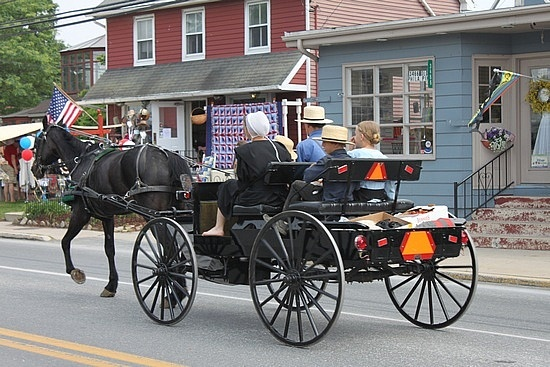 Visit an Amish town. I know this street in Intercourse, Pa!