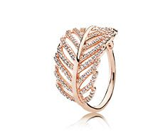Light as a feather, clear cz rose gold ring www.melodysqualityjewelry.com