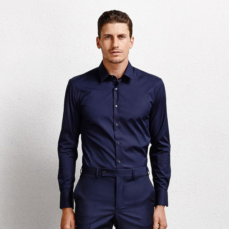 Orlando Navy Men's Business Shirt #shirt #mensshirt #longsleeveshirt #formalshirt #tailored #menswear