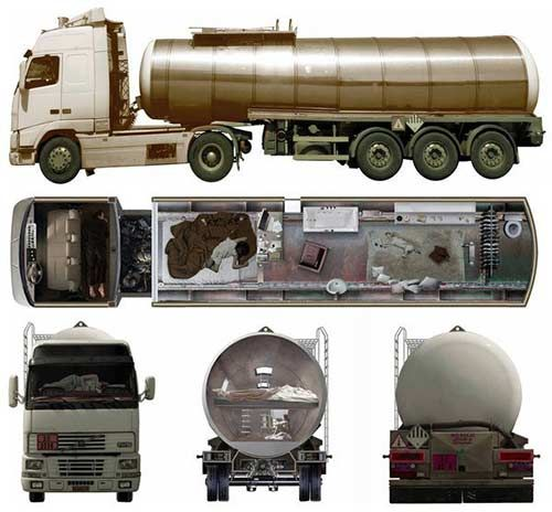 If you want to be a little more mobile in the apocalypse then you might want to look into making one of these! From the outside it looks like a normal tanker but on the inside is a luxury apocalyptic pad!