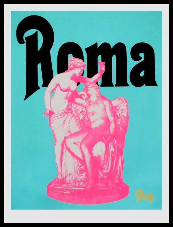 Image of Roma -Statue-Aqua/Black/Pink