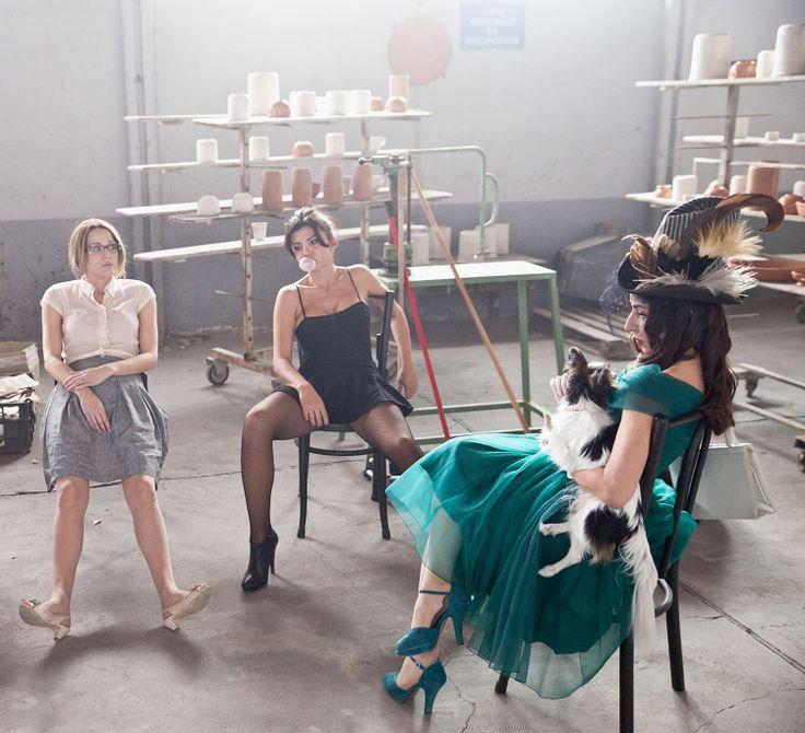 Le Ragazze su set durante le ripresse del #film #paneeburlesque #cinema #film