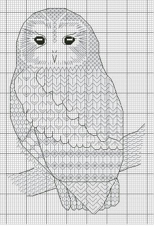 Gallery.ru / Photo # 2 - Blackwork_Owls - CrossStich