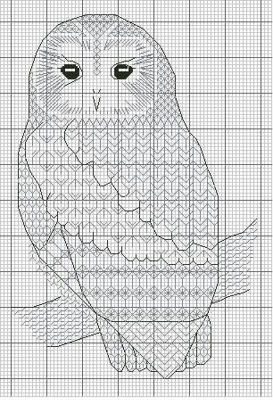 Gallery.ru / Photo # 2 - Blackwork_Owls - CrossStich #freeblackworkembroidery