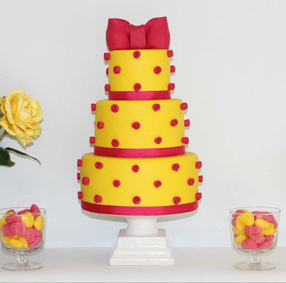 red and yellow cake