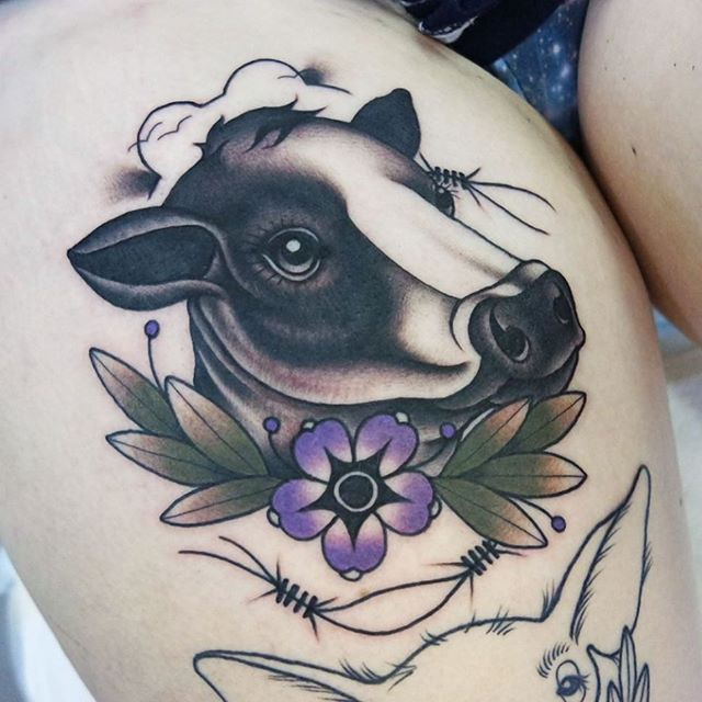 Image result for cow tattoo