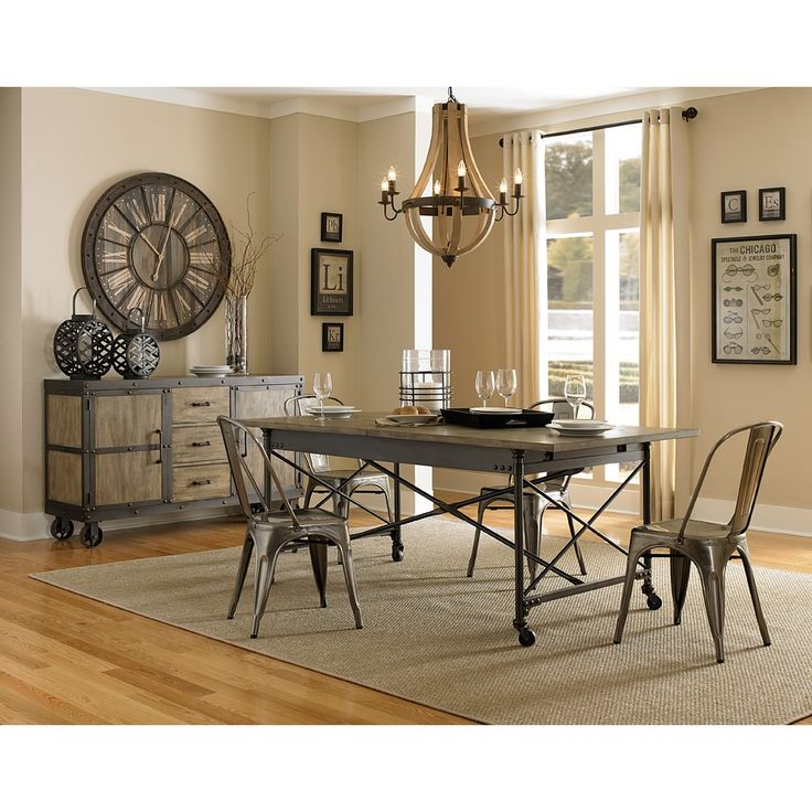 Walton Iron U0026 Wood Rectangular Dining Table U0026 Chairs By Magnussen Home · Industrial  Dining RoomsRustic ...