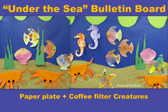 Under the Sea Ocean Bulletin Board (from Bulletin Board RoundUP via RainbowsWithinReach) - many other ideas at this site