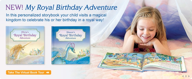 """""""My Royal Birthday Adventure"""" personalized storybook. NEW from www.iseeme.com."""